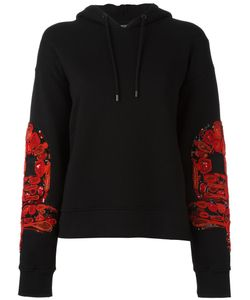 Marcelo Burlon County Of Milan   Patched Sleeves Hoodie Small