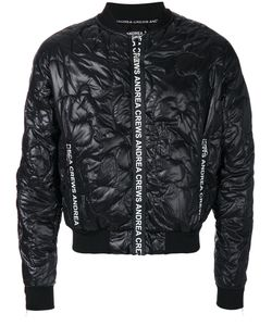 Andrea Crews | Quilted Effect Bomber Jacket