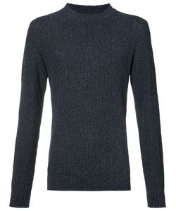 Orley | Ribbed Crew Neck Sweater Size Large Mulberry Silk/Tussar