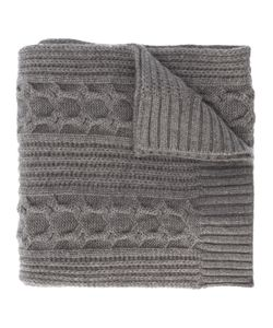N.Peal | Wide Cable Knit Scarf