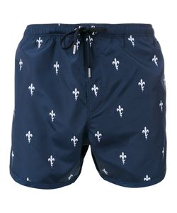 Neil Barrett | Fleur-De-Thunder Print Swim Shorts Size Large