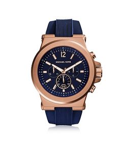 Michael Kors   Dylan Rose Tone Stainless Steel Case And Silicone Strap
