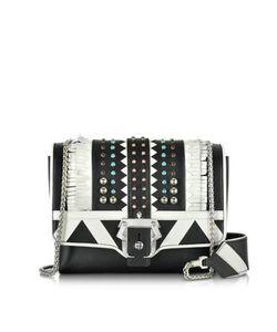 Paula Cademartori | Alicebag White Leather Shoulder Bag W/Studs