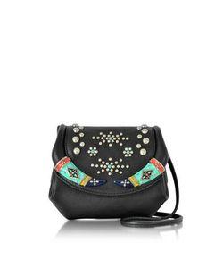 Roberto Cavalli | Leather Mini Crossbody Bag W/Studs