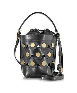 Pierre Hardy   Leather Penny Bucket Bag W Studs