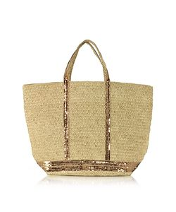 Vanessa Bruno | Large Natural And Sequins Cabas Tote Bag