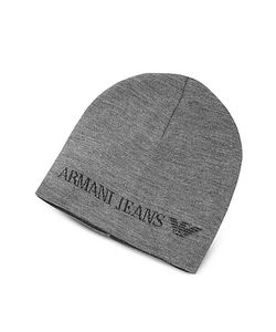 Armani Jeans | Solid Wool Blend Beanie Hat