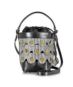 Pierre Hardy   Stripes Leather Penny Bucket Bag