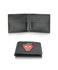 Paul Smith | Leather Billfold Wallet W/Strawberry Skull Print