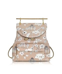 M2malletier | Printed Flowers Leather Backpack