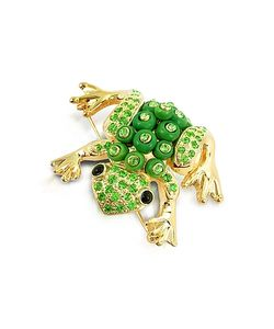 AZ Collection   Frog Brooch