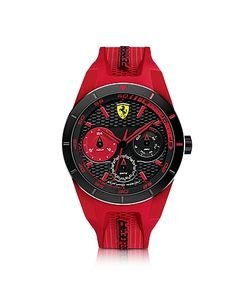 Ferrari   Rev T Stainless Steel Case And Silicone Strap