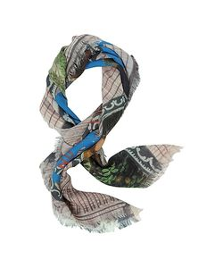 Vivienne Westwood | Destroy Print Wool Square Scarf