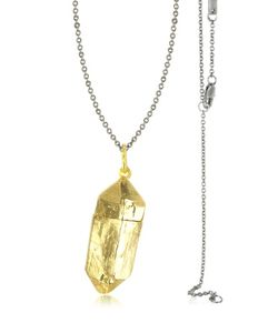 Bjorg | Magic Hour Rock Box Golden Charm Necklace