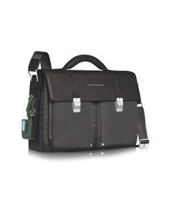 Piquadro   Link Double Front Pocket Double Gusset 15 Laptop Briefcase