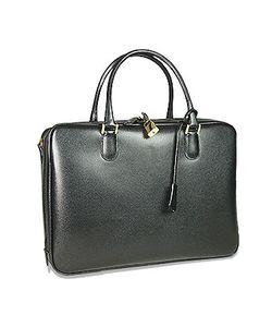 Fontanelli   Lizard-Print Calf Leather Briefcase