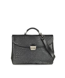 Forzieri   Woven Leather Briefcase