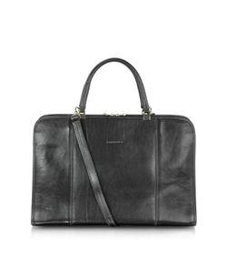 Chiarugi   Double Handle Leather Briefcase