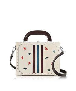 Bertoni | Pergamena Mini Squared Bertoncina Satchel Bag W/Airplanes