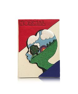Olympia Le-Tan | Normal Coated Brass Book Clutch