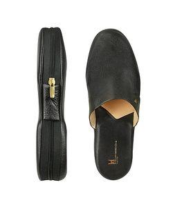 Moreschi | Amerigo Calf Leather Travel Slippers W/Case