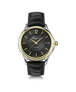 Salvatore Ferragamo   Ferragamo Time Stainless Steel And Ip Automatic Watch W/