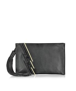 Roberto Cavalli | Evening Lightning Patchwork Leather Clutch