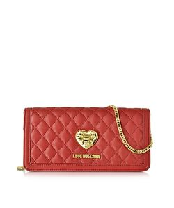 Love Moschino | And Quilted Wallet On Chain