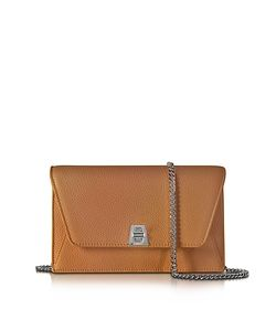 Akris | Anouk Cuoio Pebbled Leather Clutch W/Chain