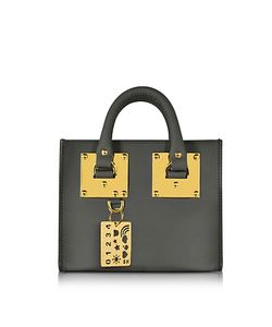 Sophie Hulme | Charcoal Saddle Leather Albion Box Tote Bag
