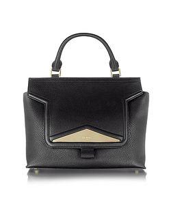 Vionnet   Mosaic 30 Leather And Ayers Medium Satchel Bag W/Shoulder Strap