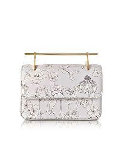 M2malletier | La Fleur Du Mal Printed Flowers Cool Leather Clutch