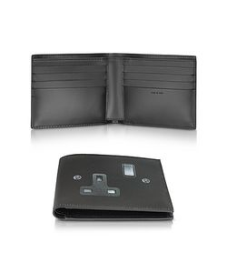 Paul Smith | Leather Plug Socket Print Billfold Wallet