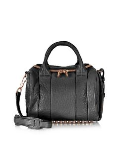 Alexander Wang | Rockie Pebbled Leather Satchel W/Rose Studs