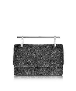 M2malletier | Mini Fabricca Cosmic Glitter Leather Clutch W/Chain