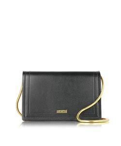 Vionnet   Leather Suede Pochette W/Chain Strap