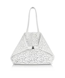 Akris | Ai Medium Laser Cut Leather Tote Bag W/Inner Canvas Tote