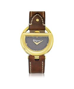 Salvatore Ferragamo | Buckle Collection Ip Stainless Steel Case And Leather Strap
