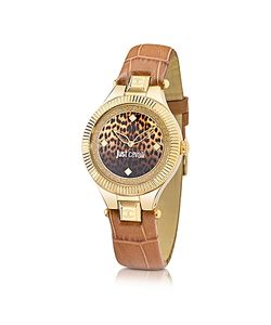 Just Cavalli | Just Indie Stainless Steel Watch W Leather Strap