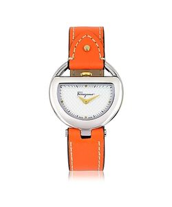 Salvatore Ferragamo | Buckle Collection Tone Stainless Steel Case And Leather Strap