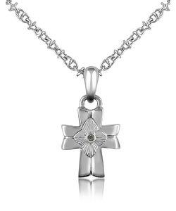 Forzieri | Diamond And Cross Pendant Necklace