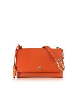 Vivienne Westwood | Balmoral Large Leather Shoulder Bag W/Flap Top