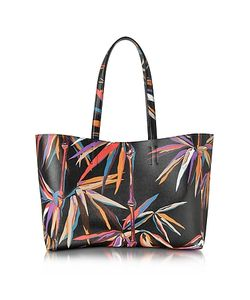 Emilio Pucci | Bamboo Print And Leather Tote