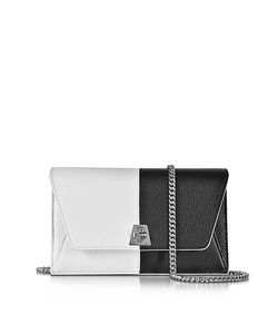 Akris | Anouk Pebbled Leather Clutch W/Chain
