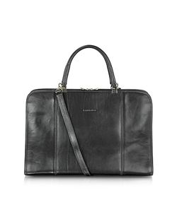 Chiarugi | Double Handle Leather Briefcase