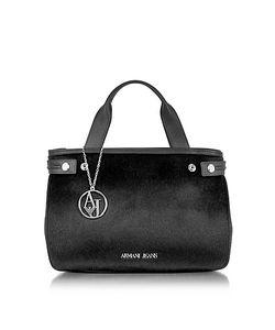 Armani Jeans | Eco Leather Hair-Calf Tote Bag