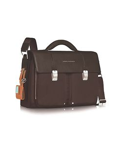 Piquadro | Link Double Front Pocket Double Gusset 15 Laptop Briefcase