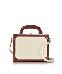 Bertoni | Avorio Mini Squared Bertoncina Satchel Bag
