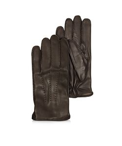 Moreschi | Canada Leather Gloves W/Cashmere Lining