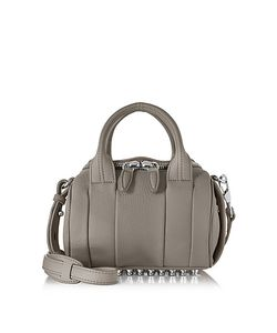 Alexander Wang | Mini Rockie Matte Mink Pebbled Leather Satchel